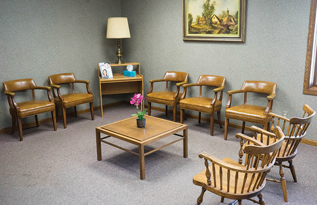 Dental waiting area in La Porte