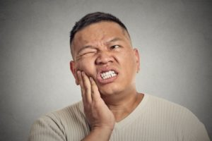 man with oral health problems in La Porte