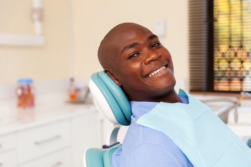 A man seeing a sedation dentist in La Porte.