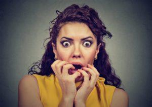 woman has dental anxiety in La Porte